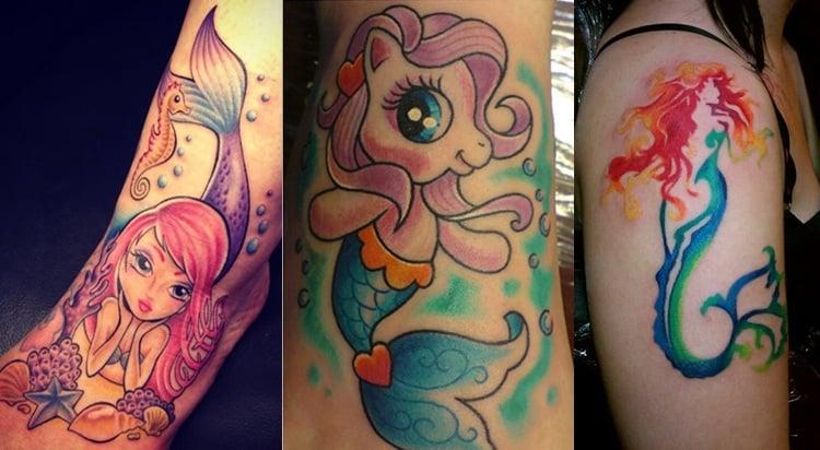 Cute Mermaid Tattoos