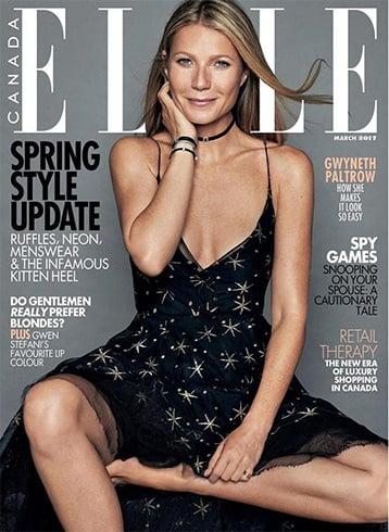 Gwyneth Paltrow on Elle Canada