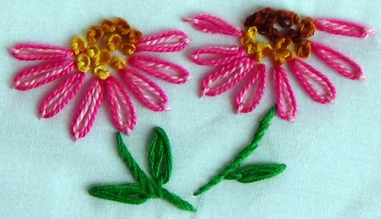 Lazy Daisy Embroidery