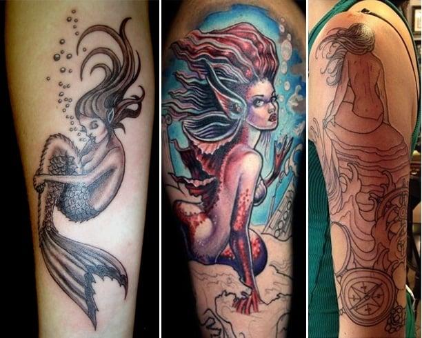 Mermaid Arm Tattoos