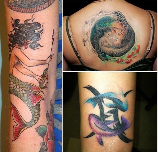 Mermaid Pisces Tattoos