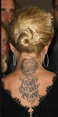 neck tattoos for women