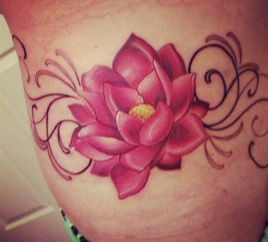 pink lotus tattoo designs