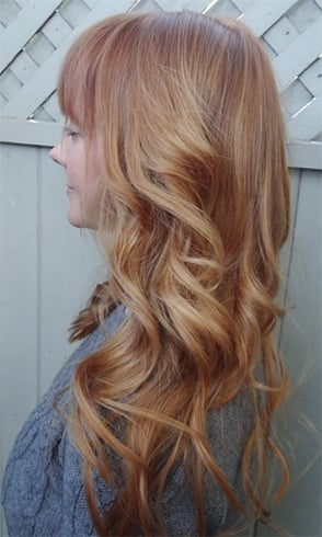Strawberry Blonde Color in Refined Beige
