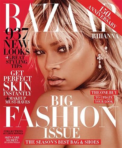 Rihanna on Harpers Bazaar us