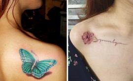 shoulder tattoos for Ladies