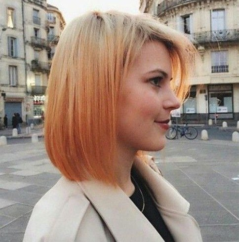 Strawberry Blonde Hair Color in Reverse Ombre