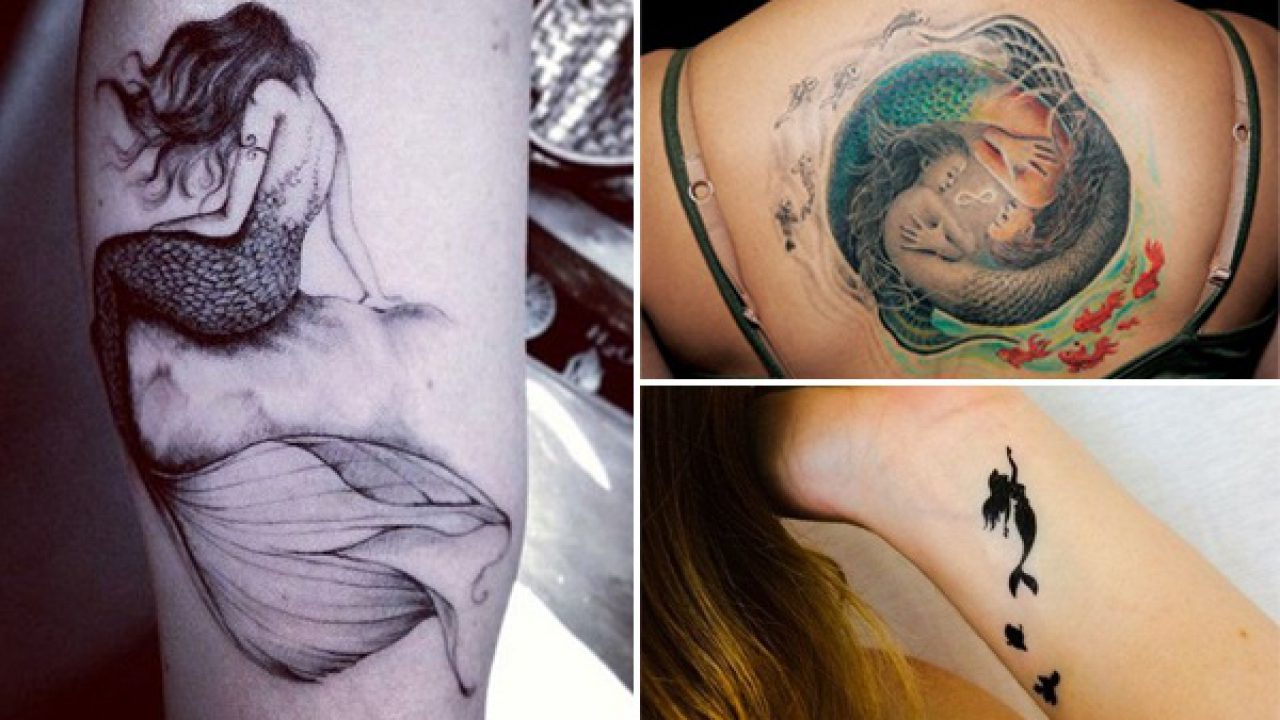 Fancy A Little Out OF The Blue Mermaid Tattoo? Here Are 25 Cute ...