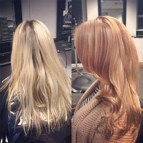 Bright Golden to Strawberry Blonde Hair Color