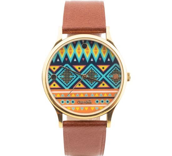 Aztec Print Wrist Watch