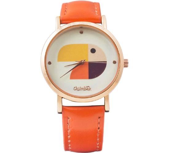 Beaky Orange Wrist Watch