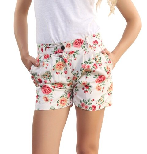Belle Fille White and Pink S Sized 1712 Shorts