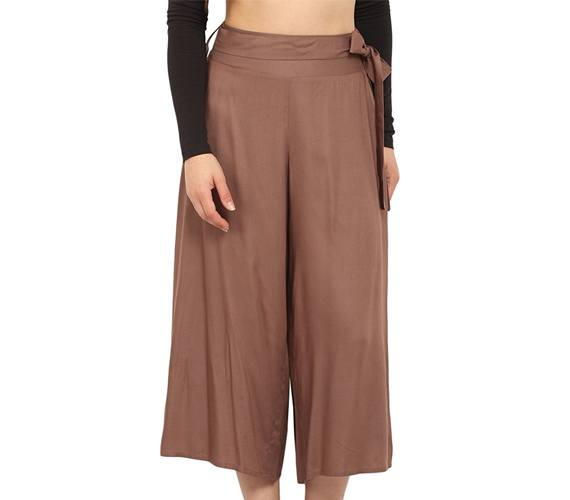 Brown Waist Tie Up Cullotes