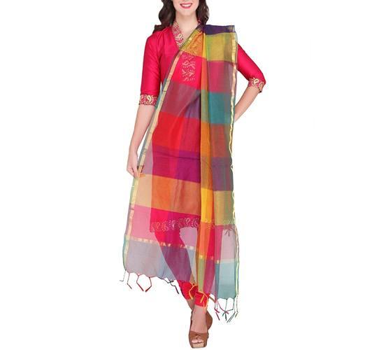Dupatta Bazaar Womens Silk Dupatta