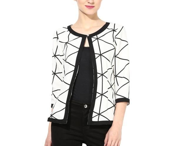 Geometric Printed Full Sleeve Jacket