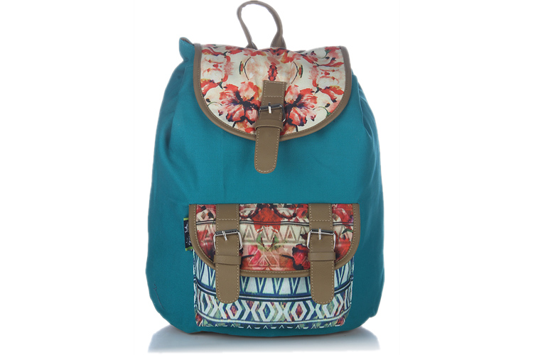 Kanvas Katha Aqua Digitally Printed Backpack