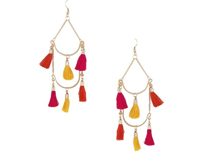 Multiple Tassel Drop Earrings