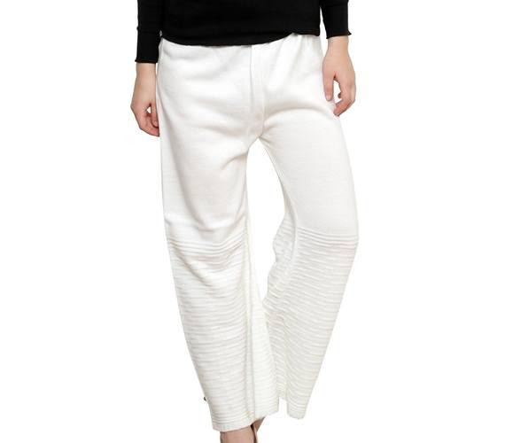 RENKA White Color Winter Palazzo Pants for Women