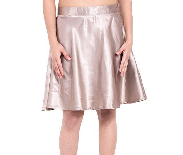 Silver Satin Skirts