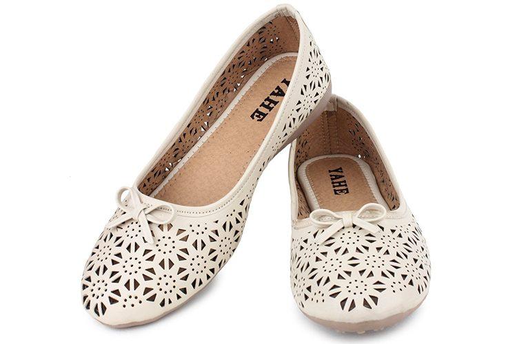 Yahe Women's Casual Faux Leather Flat Belly Shoe Y-38