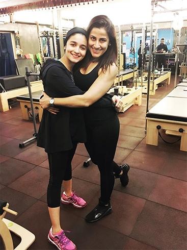 Alia at gym