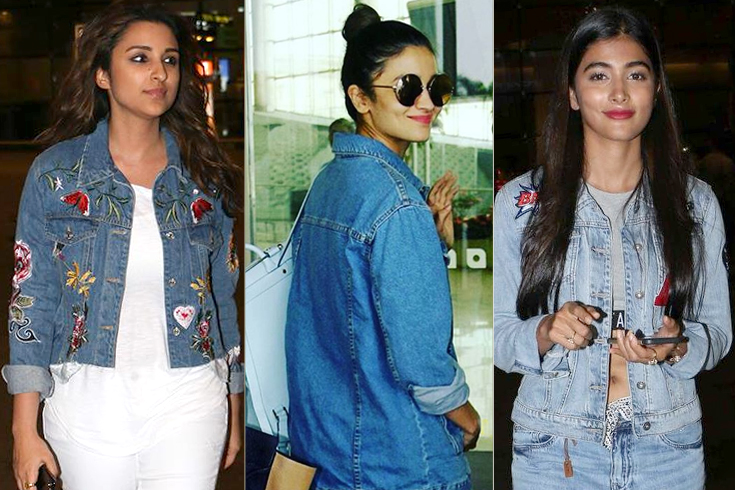 b-Town Inspired Denim Airport Fashion Looks