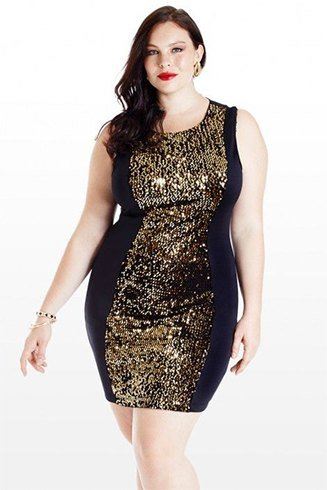 Short Black Sequin Dress