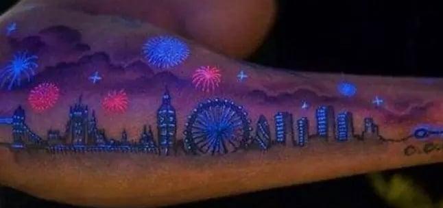 Colored Uv Ink Tattoos