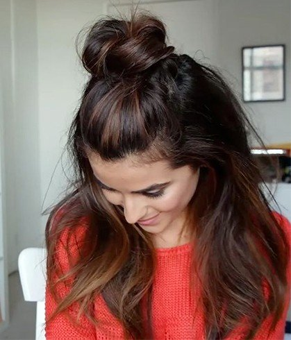 Dirty Hair Updo Style