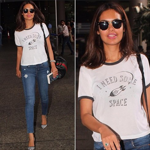 Esha Gupta Airports Fashion