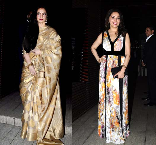 Madhuri Dixit And Rekha Fashion