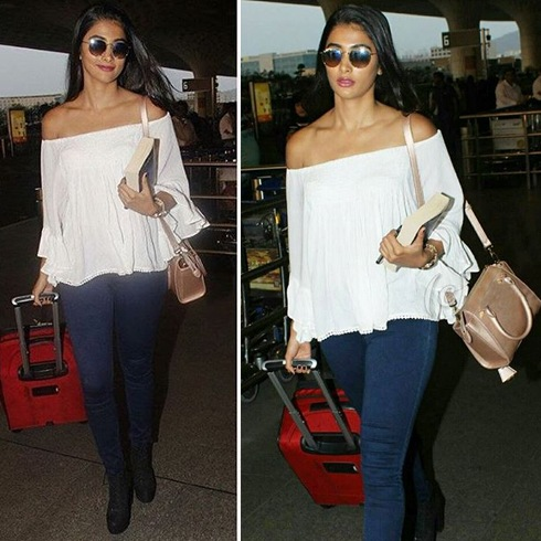 Pooja Hegde Airports Fashion