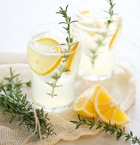 Lime and Rosemary Infused Water