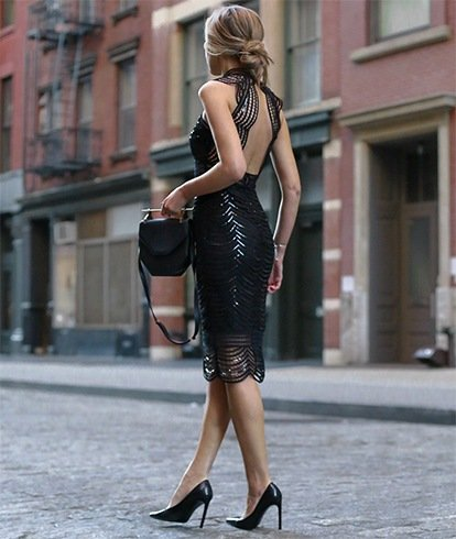 Best Black Sequin Dress