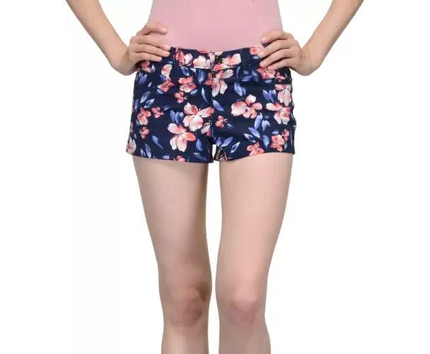 Being Fab Floral Print Women's Multicolor Hotpants