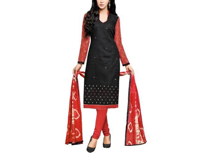 Chudidar Party Wear Dress Material With Matching Dupatta