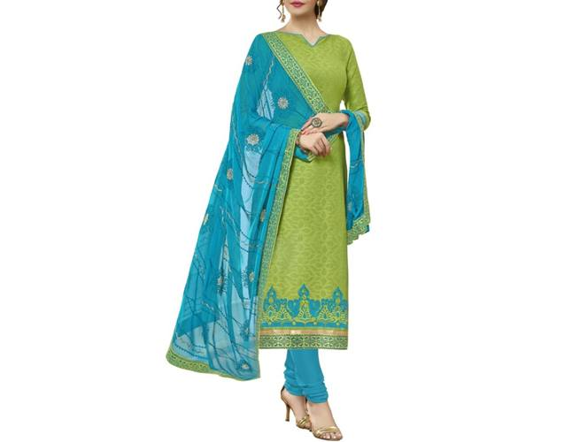 Chudidar Party Wear Dress Material With Matching Dupattas