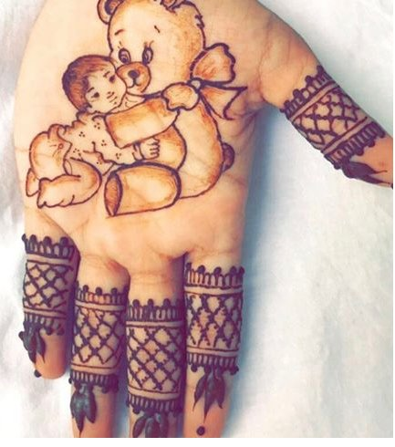 Cute Mehndi For Child