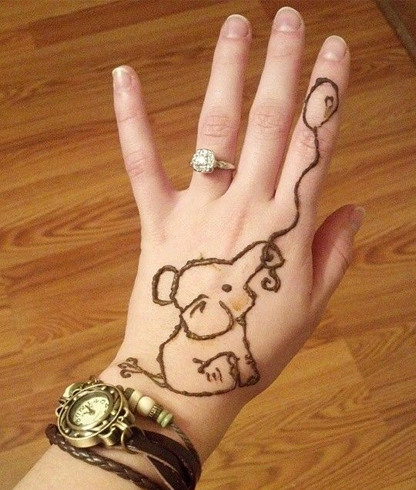 Elephant Mehndi for kids
