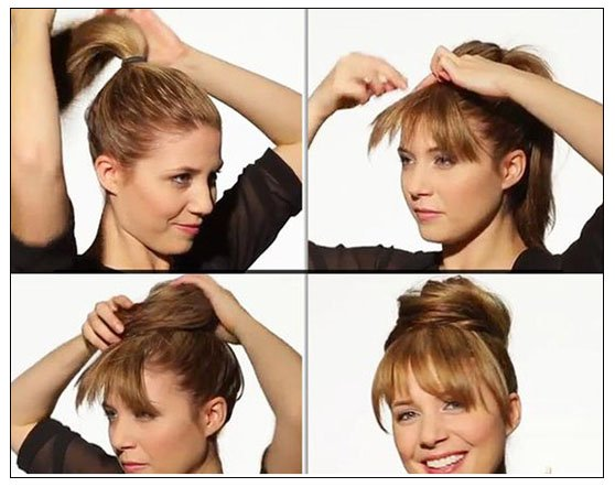 Fake Your Bangs Hairstyle