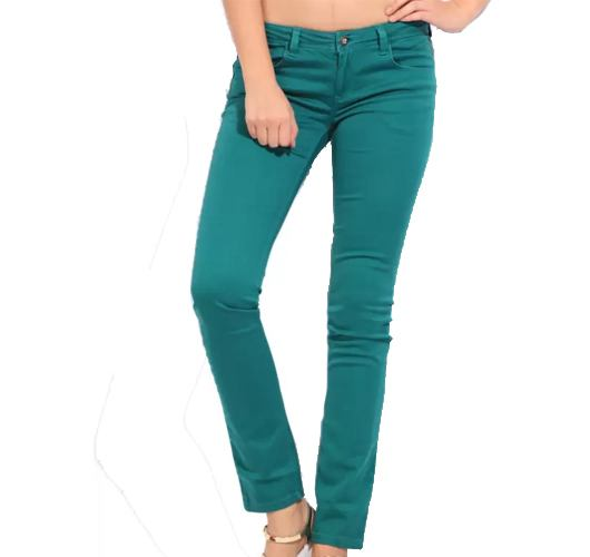 Flying Machine Skinny Womens Green Jeans