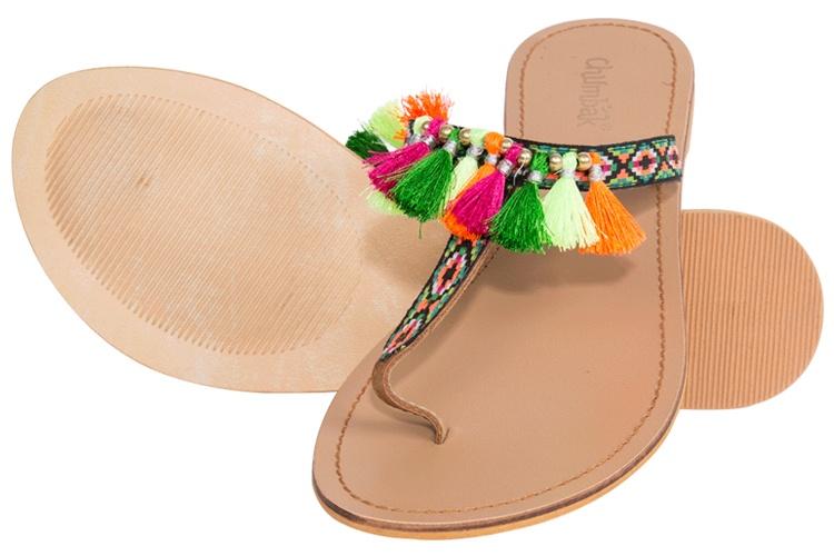 Geo Tassel Sandals
