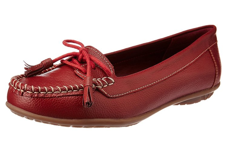 Hush Puppies Women's Leather Ballet Flats