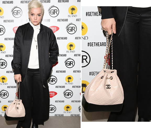 Lily Allen- Chanel- Drawstring Bag