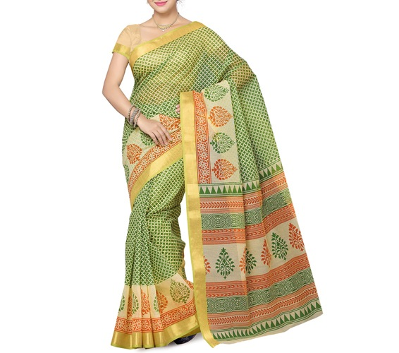 Multicolor Cotton Saree