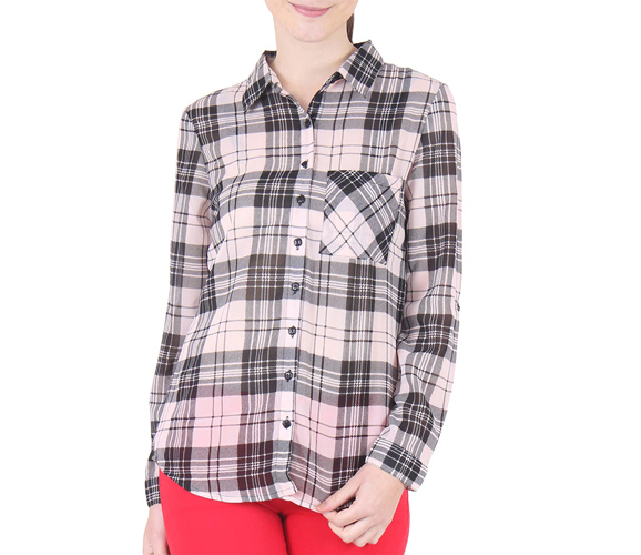 Multicolor Georgette Checks Printed Shirt