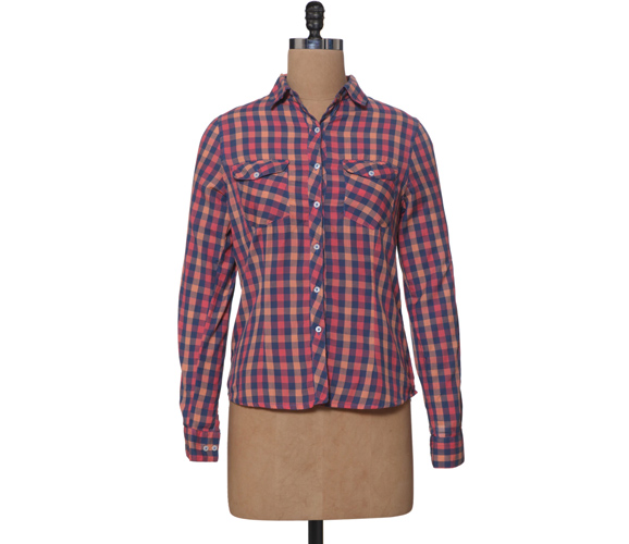 Multicoloured Checks Cotton Shirt