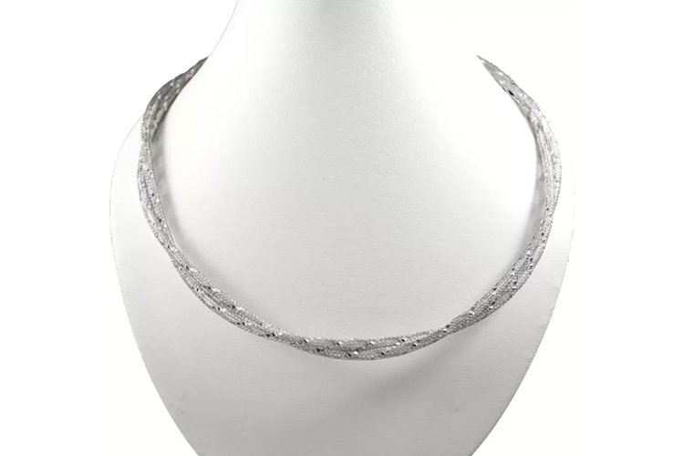 Oroca Arts Italian Chains emzoaich18 Rhodium