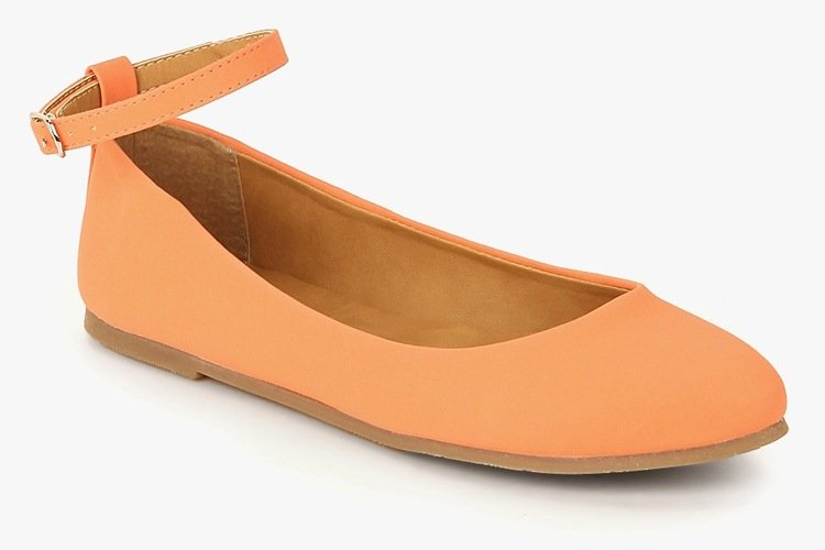 Pink Ankle Strap Belly Shoes