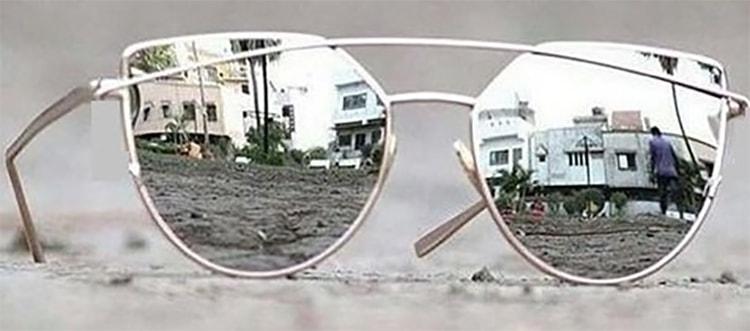 Rectangular Aviator Glasses